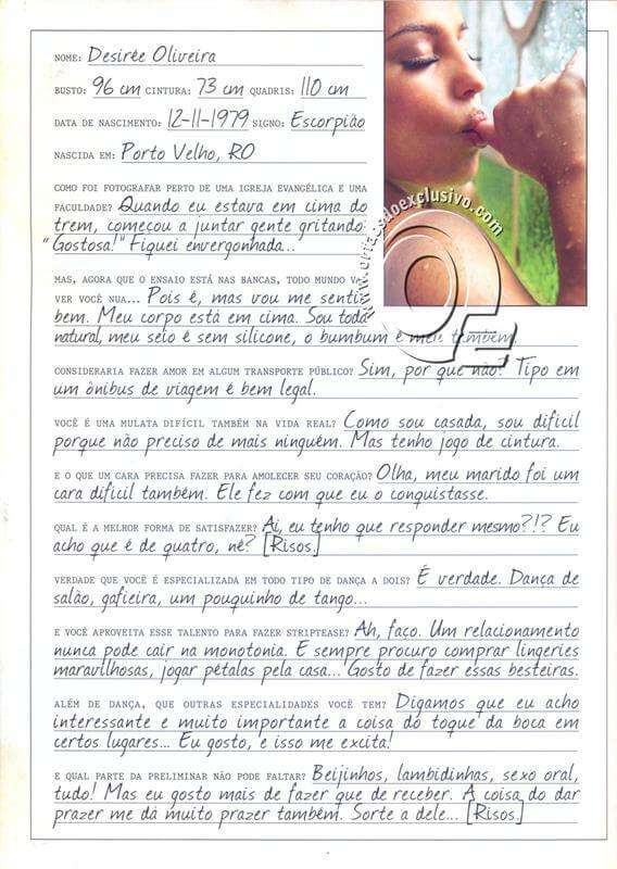 desirée oliveira nua na revista playboy