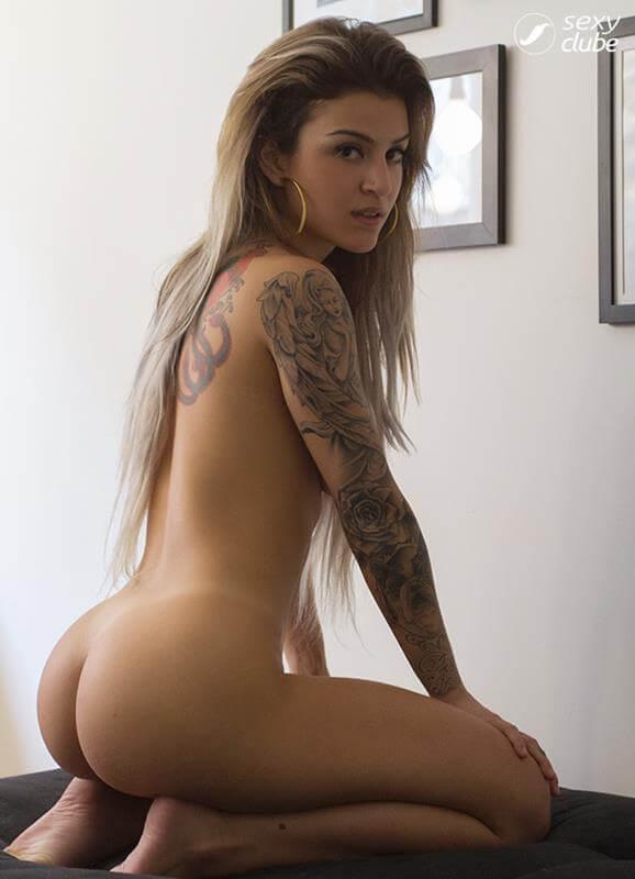 bruna hollinger nua na revista sexy